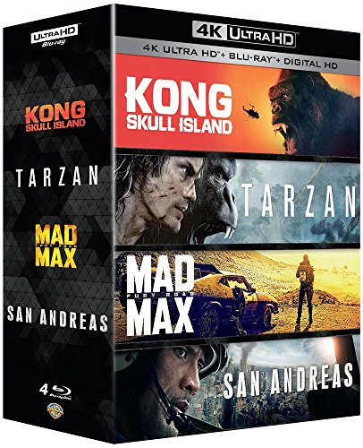 Kong : Skull Island + Tarzan + Mad Max : Fury Road + San Andreas - Coffret 4k Ultra HD [4K Ultra HD]