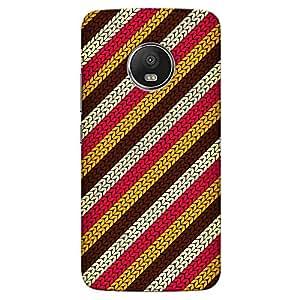 DASM United Moto G5 Premium Back Case Cover - Woolen Texture
