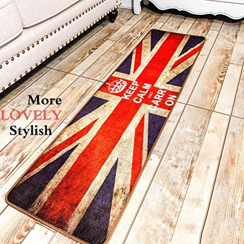 CWJ Mat-Water Absorption Tisch Computer Sofa Zimmer Teppich British Style Union Jack Britische Flagge Streifen Küche Teppiche Retro Machen Sie die alte Persönlichkeit warm im Winter (Union Jack Sofa)