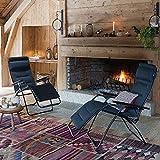 Lafuma Relax-Liegestuhl, Klappbar, Stufenlose Verstellung, Stahlkonstruktion, Air Comfort, Futura, dunkelblau, Großer