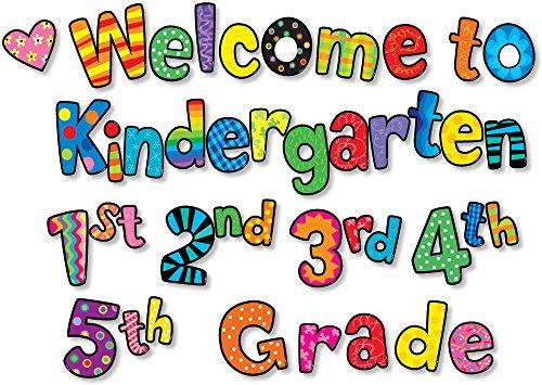 Creative Lehre Press Poppin 'Muster Welcome to Kindergarten, 1, 2, 3, 4, 5. Grade Punch Sätze (2128)