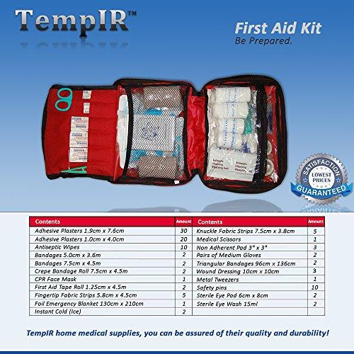 Erste-Hilfe-Set mit über 100 Teilen, für Reisen, Auto, zu Hause, Wohnwagen - 6