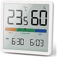 NOKLEAD - Termoigrometro digitale, portatile, igrometro interno, ad alta precisione, temperatura e umidità, per…