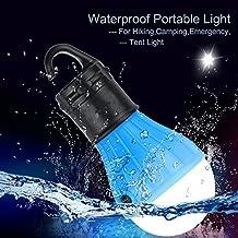 AG-FASHION-Portable LED Linterna Foco para Camping Senderismo Pesca Nocturna Luz de Emergencia Alimentación por Batería, para Interior y Exterior. (azul)
