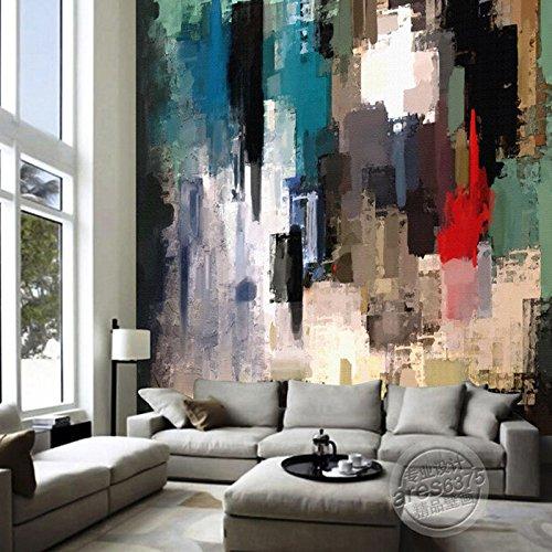 JSLCR Abstrakte Kunst Ölgemälde handgemalte Tapete Tapete Wandbild bar KTV Retrotapeten Wandbilder
