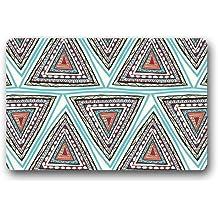 """Fantástico Felpudo estilo indio triángulo azteca impresión Felpudo alfombra para interiores/exteriores/puerta delantera/baño mats £ ¬ dormitorio Felpudo 23.6""""(L) X 15,7(W)"""