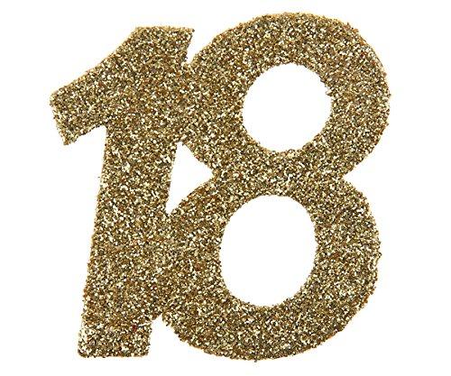Endlich ist es so weit.... 18. Geburtstag Konfetti / Confetti Streudeko gold