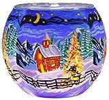 Himmlische Düfte Geschenkartikel CC275 Silence Windlicht, Glas, bunt, 11 x 11 x 9 cm