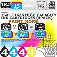 16XL 16 Pack 16XL Our Capacity Bk 18.2ml Colours 15ml
