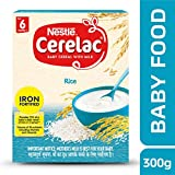 Nestle Cerelac Fortified Baby Cereal with Milk, Rice – From 6 Months, 300g Pack
