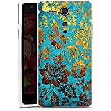 Sony Xperia SP Hülle Silikon Case Schutz Cover Blumen Muster Gold