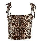 Damenmode vielseitige eng anliegende Leibchen mit Leoparden-Trägern