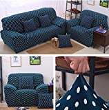 Strechhusse Sofa Tight Wrap All Inclusive rutschfestem Sektionaltor Elastic Full Sofa Motiv Handtuch 1/2/3-Sitzer, 008, 2 seater:145-185cm