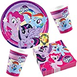 HHO My Little Pony Partyset 36tlg. für 8 Kinder Teller Becher Servietten