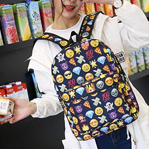 Imagen de emoji , imprimir cara  escuela bolsas para adolescentes niñas niños by venmo azul  alternativa