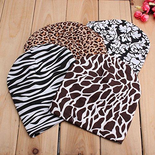 Calli 0 bis 6 Monate Nettes neugeborenes Kind Baby Kind Mädchen Beanie Baumwollhut Weiche Blumen Zebra Fotografie Blumen Kappen Zebra Beanie Baby