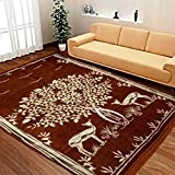 #8: Home Best Abstract Chenille Carpet, Premium Living Room cotton touch Carpet / rug /durries -(5x7 fit) , Multicolor)