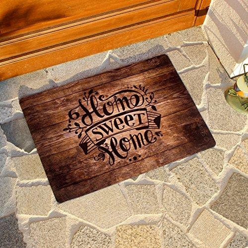 Fußmatte außen und innen Tür-Matte mit Spruch Home Sweet Home Stilingo Fußabtreter Vorleger drinnen und draußen 70 x 50 cm - 5