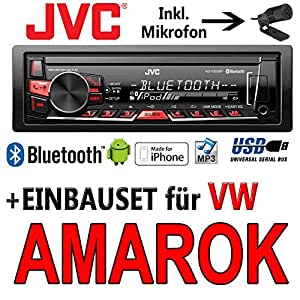 VW Amarok–JVC KD x320bt–Bluetooth MP3USB Radio voiture–Kit de montage
