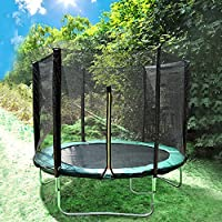 Greenbay 6FT/8FT/10FT/12FT/14FT Garden Trampoline Complete Set With Jumping Mat Safety Net Enclosure Rain Cover