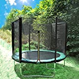 Greenbay 8FT Garden Trampoline Set With Jumping Mat Safety Net Enclosure Rain Cover