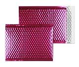 Farbige Luftpolstertaschen | Premium | 200 x 260 mm Rosa (10 Stück) mit Abziehstreifen | Briefhüllen, Kuverts, Couverts, Umschläge mit 2 Jahren Zufriedenheitsgarantie