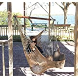 Krazy Outdoors grande silla hamaca - Maya estilo - Bonito Bar de Madera & Loop End - Lujoso, cómodo - 136 Capacidad de peso - Grande