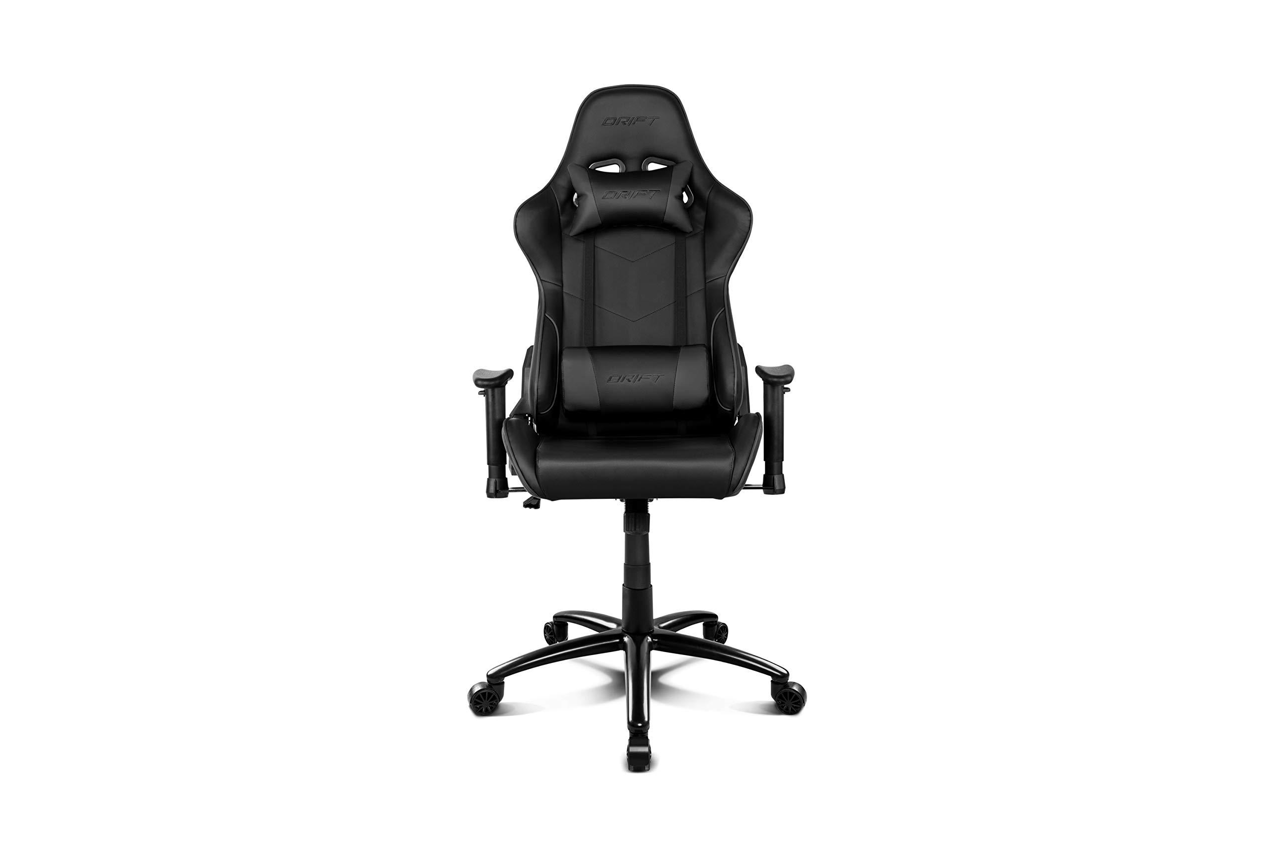 Color Negro Drift DR100B Tela Alta Calidad, Ergon/ómica Silla Gaming Profesional,
