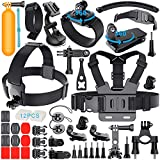 Gehoiya Accessories for GoPro Hero 5 Hero 4 Session Hero 1 2 3 3+Black, Action Camera Mounts for Xiaomi Yi/ Lightdow /VicTsing/ APEMAN/ WiMiUS/ Rollei/ QUMOX, Accessories Bundle in Traveling Diving Surfing Cycling Camping and Outdoor Sports Fun