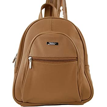 278f582511 GENUINE LEATHER BACKPACK (3748) Beige  Amazon.co.uk  Shoes   Bags