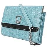 Lencca Nikina Handtasche aus veganem Leder, mit abnehmbarem Schulterriemen, Nikina, himmelblau