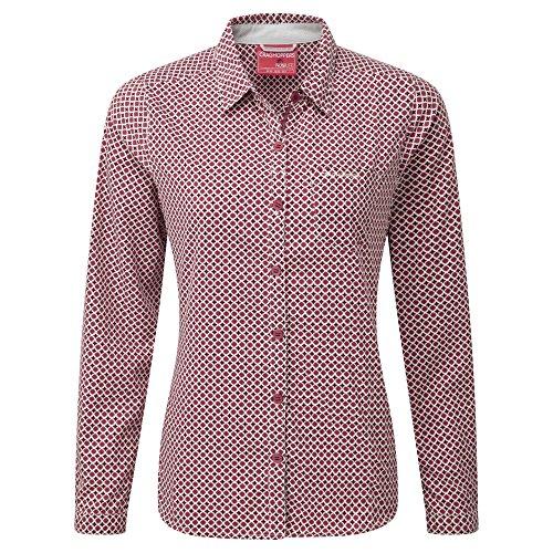 Craghoppers Womens/Ladies NosiLife Olivie Long Sleeve Shirt pink 3N3