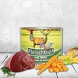 Bild: DOGREFORM Fleischtopf JuniorMenü 6 x 195 g mit Wild Gemüse und Nudeln Nassfutter