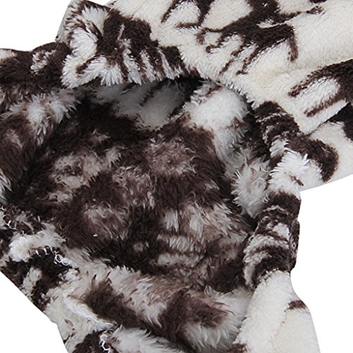 Sweatshirt Mit Kapuze Hund Flauschigen Mantel Overall W / Rentier Und Schneeflocke – Größe Xs - 5