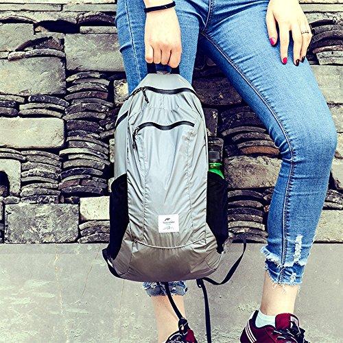 Naturehike 18l impermeabile ultra leggero Packable zaino escursionismo zaino viaggio zaino pratico pieghevole ciclismo scuola campeggio all' aperto Carry On Backpacking per uomini e donne, Black Black