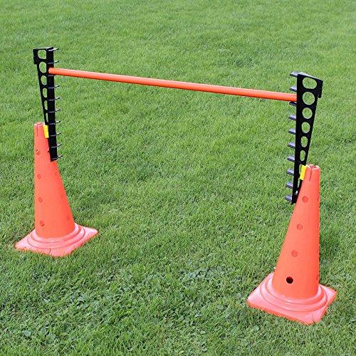 Bild von: Kombi-Leiterhürde für Hürdenparcours, Stange 100 cm, für Agility - Hundetraining (orange)