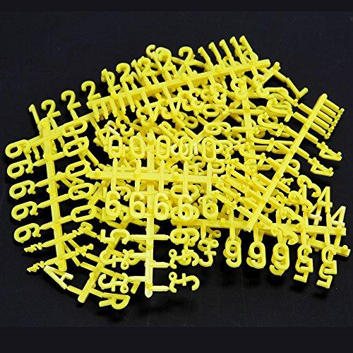 Pegboard Nummern - Gelbe. 19mm hoch.