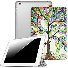 Fintie iPad 4 / 3 / 2 Funda - Soporte Plegable Smart Case Funda Carcasa con Stand Función y Auto-Sueño / Estela para Apple iPad 2, iPad 3 y el Nuevo iPad 4 Retina, Love Tree