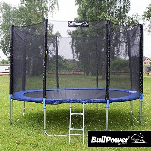 Outdoor Trampolin Gartentrampolin Kindertrampolin 366 cm 150kg Netz Leiter Sicherheitsnetz GS