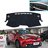 XHULIWQ Auto Armaturenbrett Abdeckung Anti-Rutsch-Sonnenschutz Pad Zubeh/ör F/ür Toyota C-HR 2017-2020