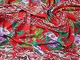 Italienisches groß Floral Print Baumwolle Linon Kleid
