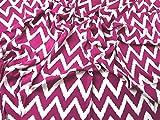 Bold Chevron Ikat Print Viskose Challis Kleid Stoff