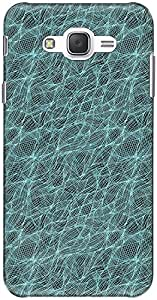 The Racoon Grip printed designer hard back mobile phone case cover for Samsung Galaxy J7. (Fish Net)