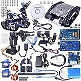 Longruner Robot Car Kit mit Mega 2560 Board,Utility Intelligent Fahrzeug Robotik Arduino Smart Learning Educational DS Robot Kit mit HD Kamera,arduino Lernenden QS05
