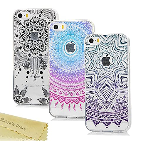 [3-Pack] Mavis's Diary iPhone SE Case ,iPhone 5S/5 Crystal Case
