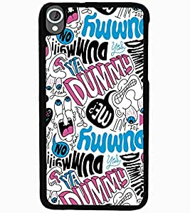 ColourCraft Typography Design Back Case Cover for HTC DESIRE 820