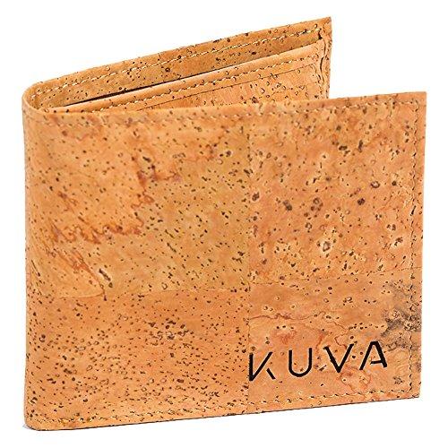 Kork-Geldbörse, veganes Portemonnaie mit Münzfach & Sichtfach, nachhaltiger Designer-Geldbeutel Amizade Unisex, für Männer und Frauen (Kork Natur) -