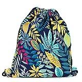Lizimandu Fullprint Beutel Tasche Turnbeutel Rucksack Jutebeutel Sportbeutel Gym Bag Gymsack Fashion Drawstring Bags(Ahorn Blau/Maple Blue)