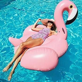 Riesiger Aufblasbar Flamingo Luftmatratze Aufblasbarer Flamingo Pool Floß Schwimmtier Schwimminsel Schwimmreifen Pool Spielzeug Wasserspielzeug Luftmatratze Wasser Strand Party Kinder Erwachsene 5