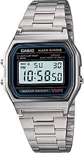 Casio A158 Montre Bracelet en Acier Inoxydable:  Uxy75
